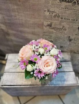 Cosulet 3 Trandafiri Roz