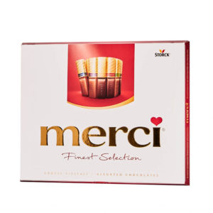 Ciocolata asortata Merci Finest Selection 250 gr