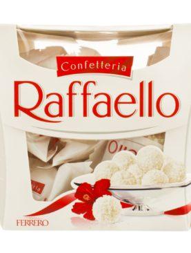 Praline crocante cu nuca de cocos si migdale Raffaello 150 gr