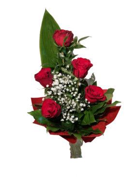 Buchet de flori - 5 Trandafiri rosii