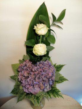 Buchet Hortensie&Trandafiri