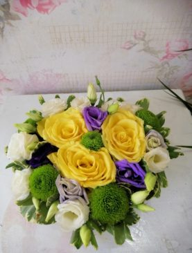 Yellow Roses in The Box