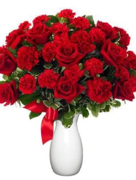 Buchet de 27 trandafiri rosii