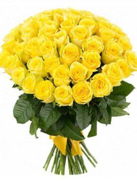 Buchet de 51 trandafiri galbeni