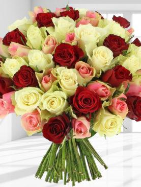 Buchet de 53 trandafiri