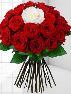 Buchet de flori - Doua culori superbe