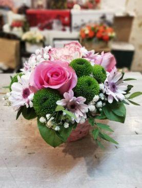 Cutie cu trandafir roz