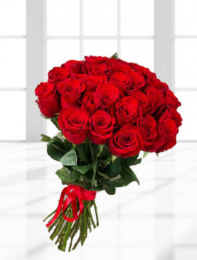 Buchet de 25 trandafiri rosii