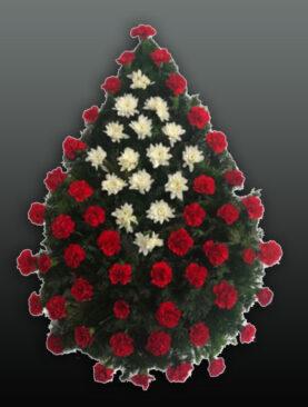 Coroana funerara din garoafe si crizanteme