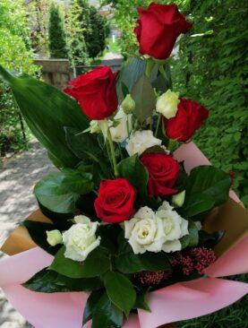 Buchet de flori cu Eustoma Alba