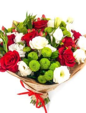 Buchet de flori cu Hypericum