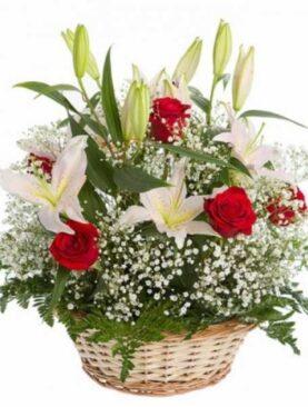 Cos cu flori - Ganduri Frumoase