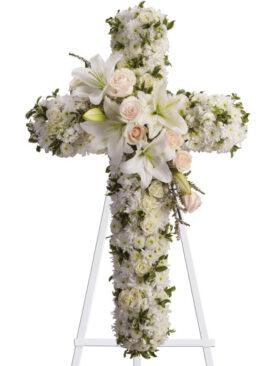 Cruce Grande - Mix din flori albe