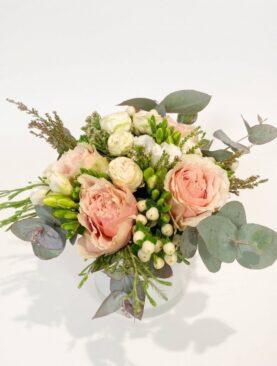 Buchet de flori cu eucalipt - Hexagon