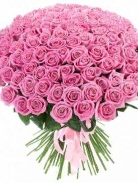 Buchet de flori - 101 Trandafiri Roz