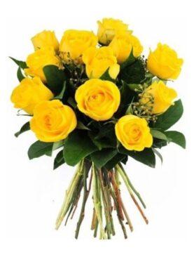 Buchet de flori - 13 Trandafiri Galbeni