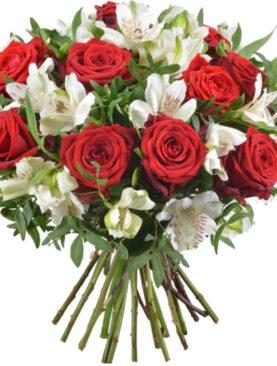 Buchet de flori - Red & White