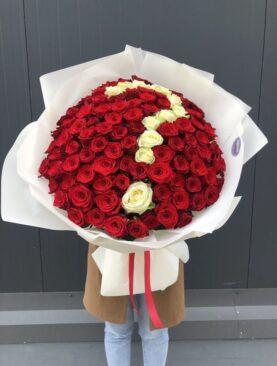 Buchet de flori - 121 Trandafiri