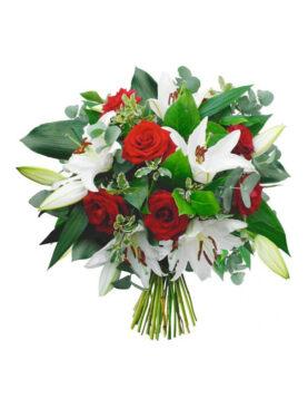 Buchet de flori cu Crini