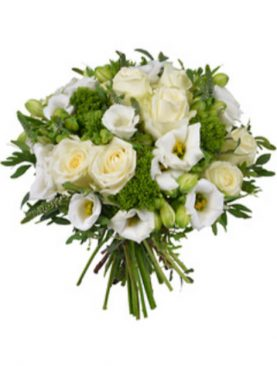 Buchet de flori cu eustoma